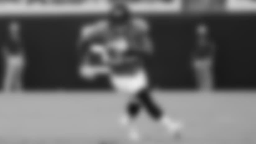 Jacksonville Jaguars running back Corey Grant (30) runs the ball during a NFL preseason football game against the New Orleans Saints, Thursday, Aug. 9, 2018, in Jacksonville, Fla. (Logan Bowles via AP)