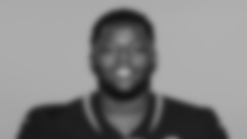 This is a 2019 photo of Dontavius Russell of the Jacksonville Jaguars NFL football team. This image reflects the active roster as of Tuesday, May 14, 2019 when this image was taken. (AP Photo)