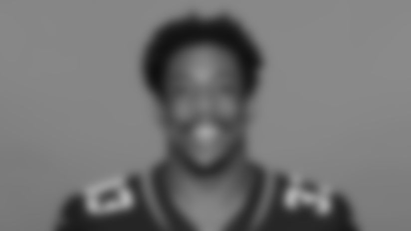 This is a 2020 photo of Devine Ozigbo of the Jacksonville Jaguars NFL football team. This image reflects the Jaguars active roster as of August 23, 2020 when this image was taken. (AP Photo)