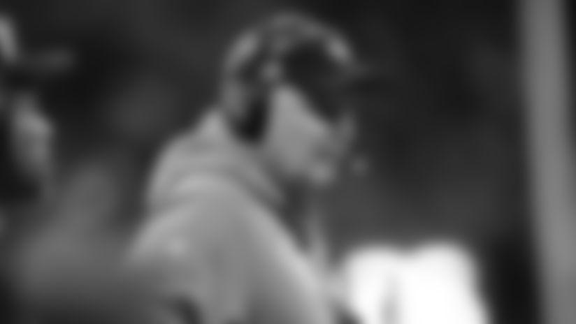 Jacksonville Jaguars head coach Doug Marrone works during the second half of an NFL football game against the Atlanta Falcons, Sunday, Dec. 22, 2019, in Atlanta. (AP Photo/John Amis)