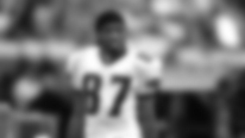 Wide receiver Keenan McCardell (87) of the Jacksonville Jaguars watches play in Jacksonville, Florida. (AP Photo / Al Messerschmidt)