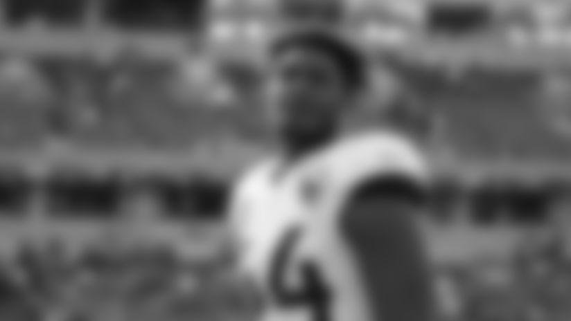 Jacksonville Jaguars middle linebacker Myles Jack (44) during an NFL football game against the Cincinnati Bengals, Sunday, Oct. 20, 2019, in Cincinnati. The Jaguars won 27-17. (Aaron Doster via AP)