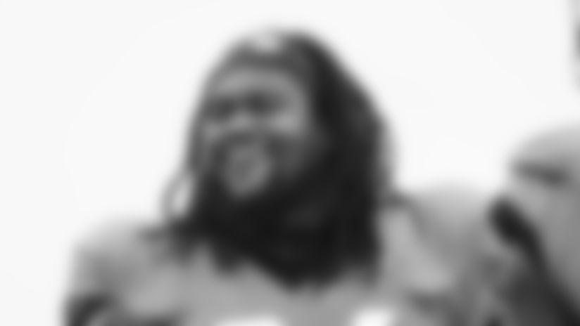 Jacksonville Jaguars defensive end Dawuane Smoot (94) is seen during an NFL football workout, Thursday, Aug. 20, 2020, in Jacksonville, Fla. (Logan Bowles via AP)
