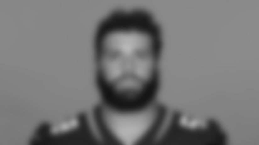 This is a 2020 photo of Doug Costin of the Jacksonville Jaguars NFL football team. This image reflects the Jaguars active roster as of August 23, 2020 when this image was taken. (AP Photo)