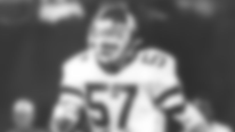 Jets linebacker John Woodring, 1981-85.WoodringJactionI