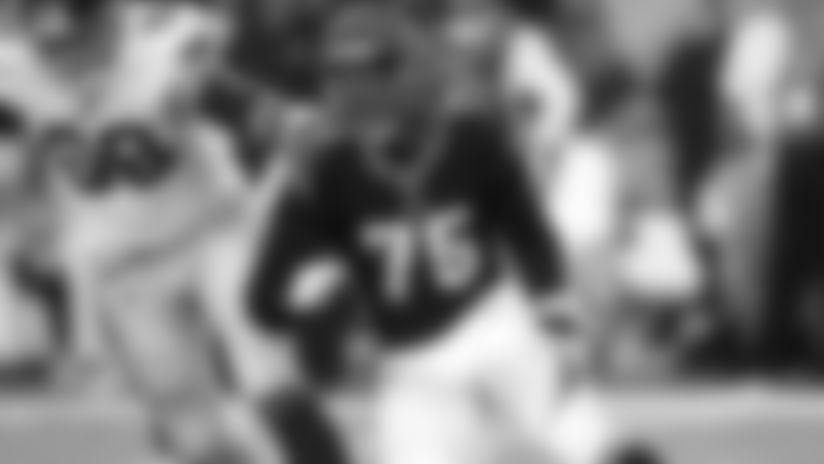 Cincinnati Bengals defensive lineman Jordan Willis (75) in action on defense during an NFL preseason football game against the New York Giants, Thursday, Aug. 22, 2019 in Cincinnati. The Giants defeated the Bengals 25-23. (Joe Robbins via AP)