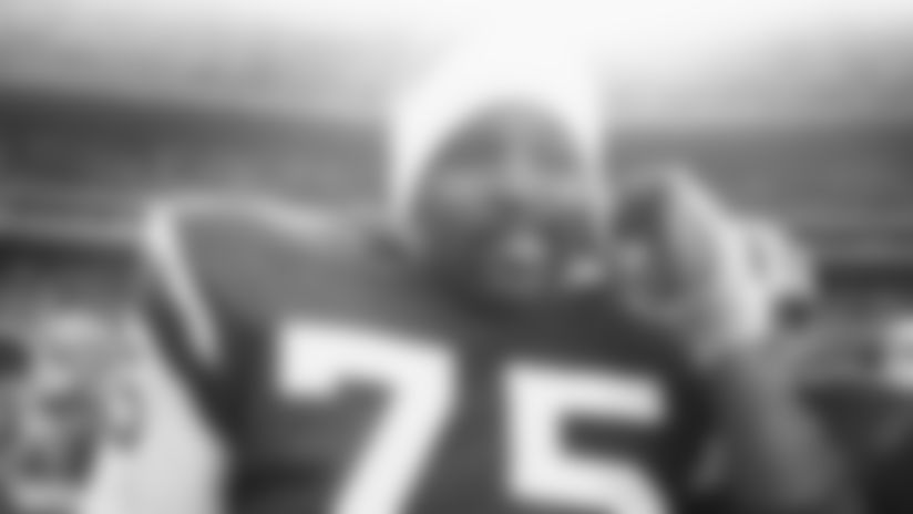 Winston Hill #75 of the New York Jets
