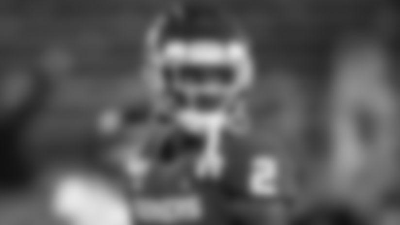 Oklahoma wide receiver CeeDee Lamb (2) before an NCAA college football game against TCU in Norman, Okla., Saturday, Nov. 23, 2019. (AP Photo/Sue Ogrocki)