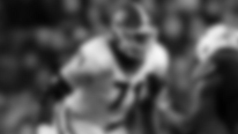Georgia offensive lineman Andrew Thomas (71) blocks Auburn defensive end Nick Coe (91) during the second half of an NCAA college football game, Saturday, Nov. 16, 2019, in Auburn, Ala. (AP Photo/Butch Dill)
