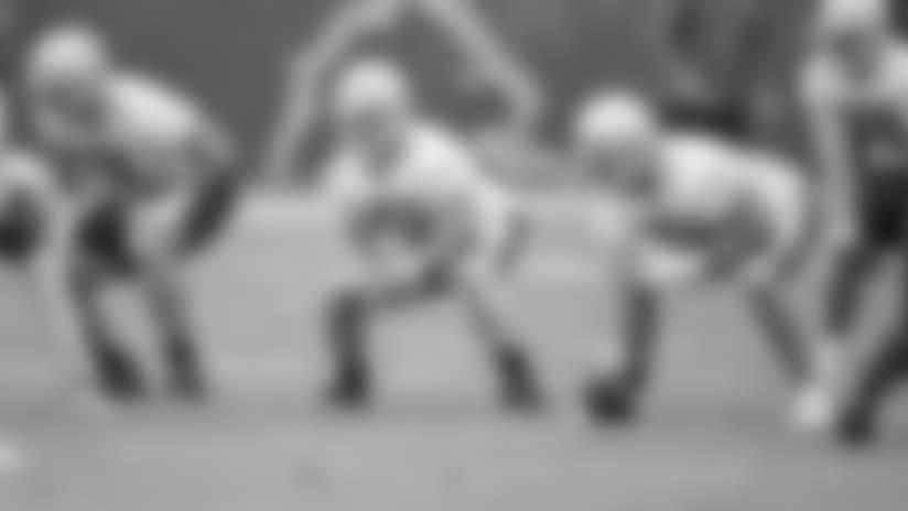 Detroit Lions offensive lineman Frank Ragnow (77) during a minicamp practice at the Detroit Lions training facility on Tuesday, June 5, 2018 in Allen Park, Mich. (Detroit Lions via AP)