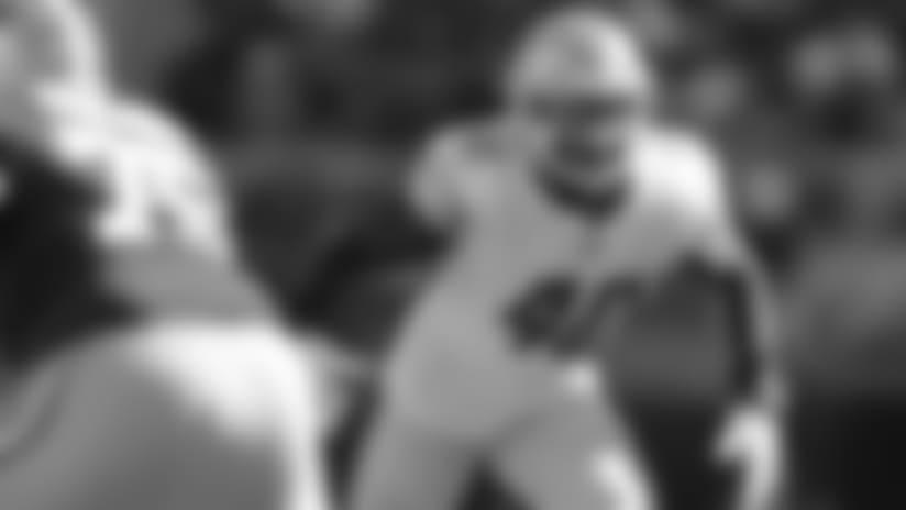 Detroit Lions linebacker Jarrad Davis (40) during a NFL football game against the San Francisco 49ers on Sunday, Sept. 16, 2018 in Santa Clara, Calif. (Detroit Lions via AP).