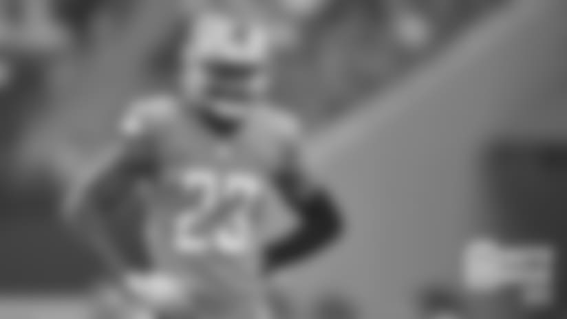 Detroit Lions cornerback Darius Slay (23) during a NFL football game against the Dallas Cowboys on Sunday, Sept. 30, 2018 in Arlington, Texas. (Detroit Lions via AP).