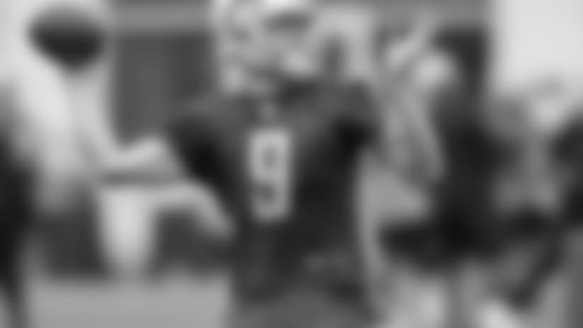 Detroit Lions quarterback Matthew Stafford (9) during practice at the Detroit Lions training facility on Friday, Sept. 21, 2018 in Allen Park, Mich. (Detroit Lions via AP)