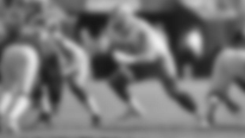 Detroit Lions offensive lineman Frank Ragnow (77) during a NFL football game against the Philadelphia Eagles Sunday, Sept. 22, 2019 in Philadelphia. (Detroit Lions via AP).