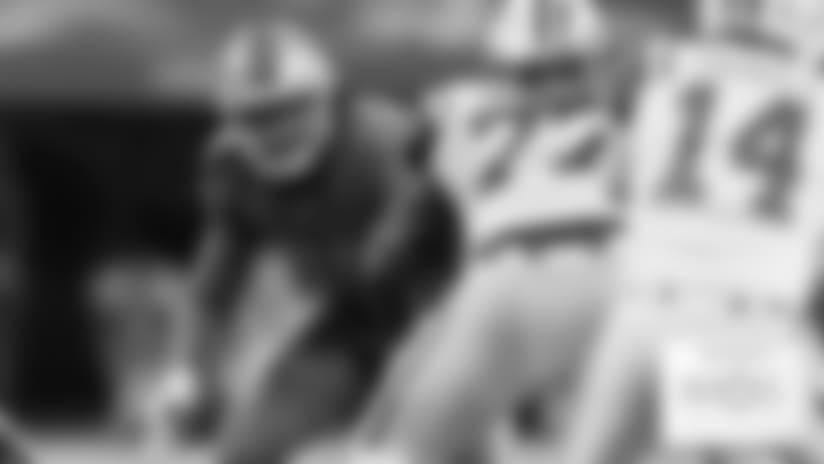 Detroit Lions defensive end Ziggy Ansah (94) during a NFL football game against the New York Jets on Monday, Sept. 10, 2018 in Detroit. (Detroit Lions via AP).
