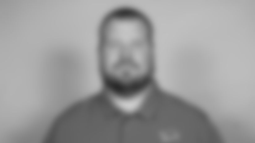 This is a 2021 photo of Hank Fraley of the Detroit Lions NFL football team. This image reflects the  active staff as of February 18st 2021, when this image was taken. (AP Photo)