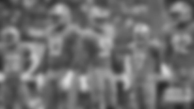 Detroit Lions defense during a NFL football game against the Dallas Cowboys on Sunday, Sept. 30, 2018 in Arlington, Texas. (Detroit Lions via AP).