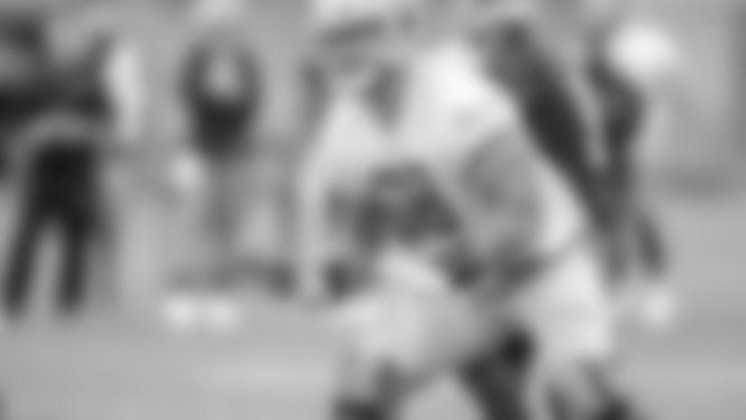 Detroit Lions tackle Taylor Decker (68) during Day 7 of OTA practices on Thursday, June 13, 2019 in Allen Park, Mich. (Detroit Lions via AP)