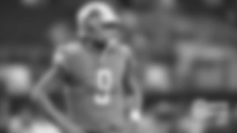 Detroit Lions quarterback Matthew Stafford (9) before a NFL football game against the Dallas Cowboys on Sunday, Sept. 30, 2018 in Arlington, Texas. (Detroit Lions via AP).