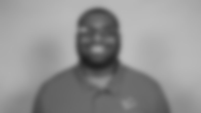 This is a 2021 photo of DeOn'tae Pannell of the Detroit Lions NFL football team. This image reflects the  active staff as of February 18st 2021, when this image was taken. (AP Photo)