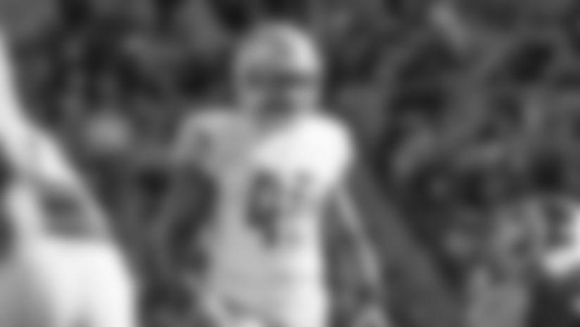 Detroit Lions linebacker Jarrad Davis (40) during a NFL football game against the Washington Redskins Sunday, Nov. 24, 2019 in Landover, Md. (Detroit Lions via AP).