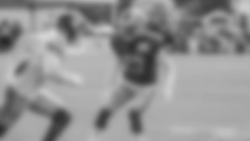 Detroit Lions quarterback Matthew Stafford (9) during training camp practice on Tuesday, Aug. 14, 2018 in Allen Park, Mich. (Detroit Lions via AP)