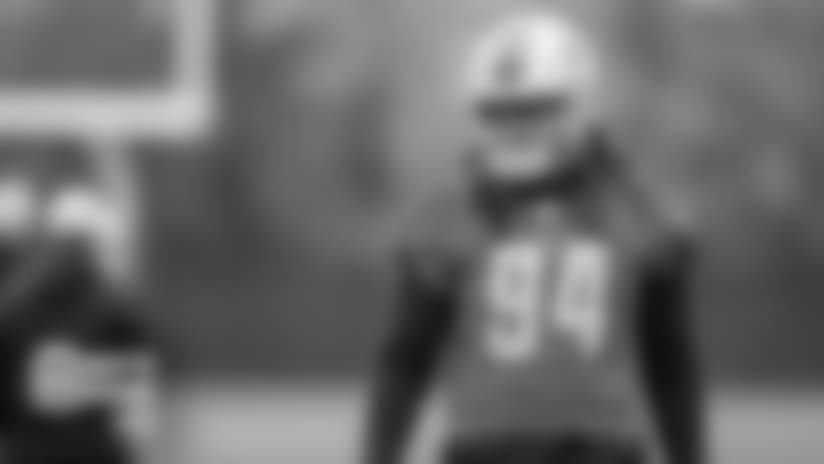 Detroit Lions defensive end Ziggy Ansah (94) during practice at the Detroit Lions training facility on Thursday, Nov. 1, 2018 in Allen Park, Mich. (Detroit Lions via AP)