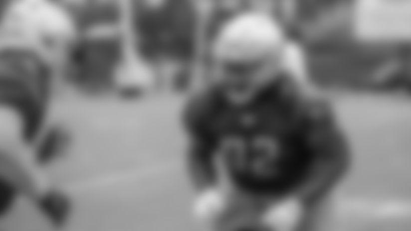Detroit Lions defensive tackle P.J. Johnson (92) during Day 3 of minicamp on Thursday, June 6, 2019 in Allen Park, Mich. (Detroit Lions via AP)