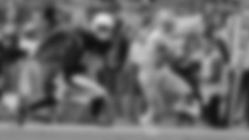Detroit Lions cornerback Darius Slay's (23) first pick-six of his career against the Arizona Cardinals in 2018.