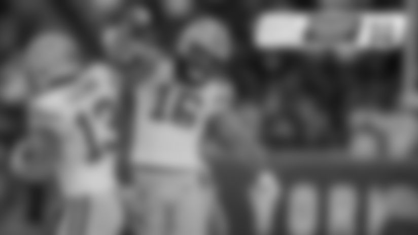 Wide receivers Allen Lazard and Jake Kumerow
