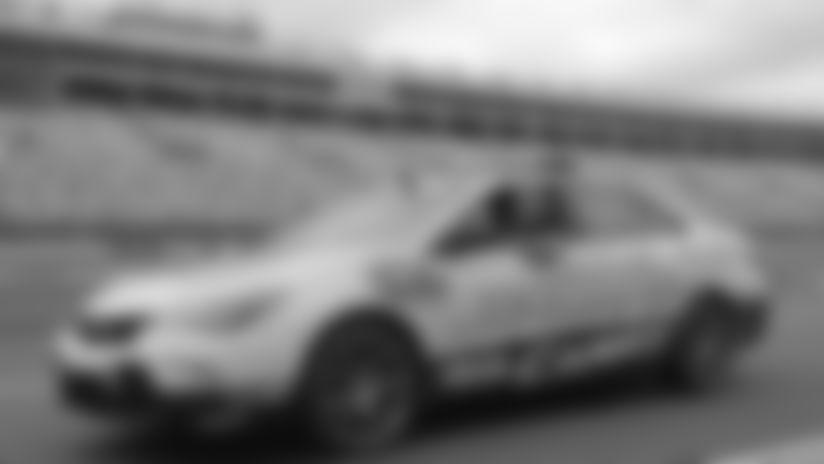 May 21, 2016 - Greg Olsen drives pace car