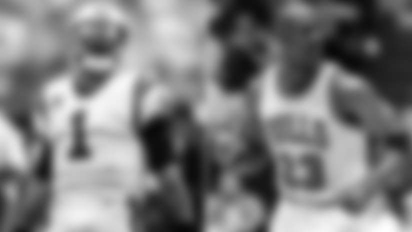 Head coach Ron Rivera compares Cam Newton's late-game mentality to basketball legend Michael Jordan.