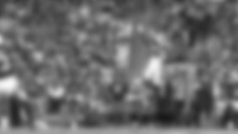 Donte Jackson levitates for the interception