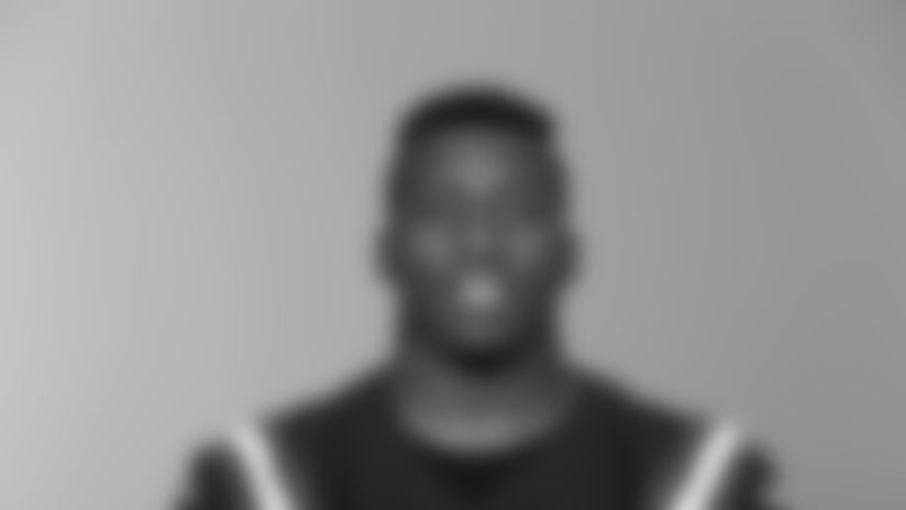This is a 2020 photo of Jordan Thomas of the New England Patriots NFL football team. This image reflects the Patriots active roster as of August 1, 2020 when this image was taken. (AP Photo)