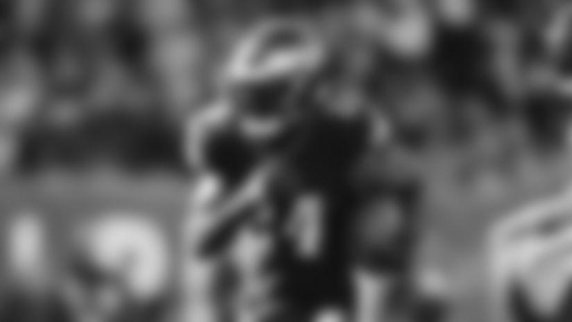 Philadelphia Eagles running back Jordan Howard in action during an NFL football game against the Chicago Bears, Sunday, Nov. 3, 2019, in Philadelphia. (AP Photo/Matt Rourke)
