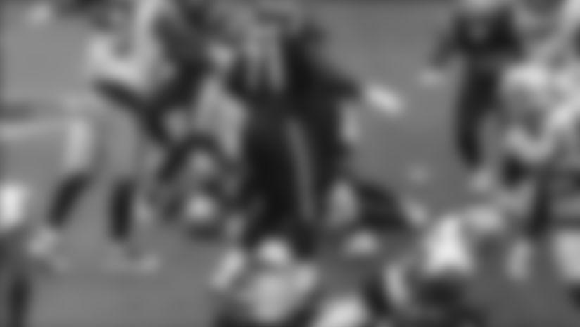 Rex Burkhead rushes for a 2-yard touchdown vs. Las Vegas Raiders