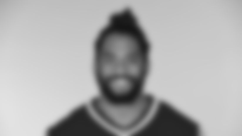 This is a 2017 photo of Harvey Langi of the New England Patriots NFL football team.  This image reflects the New England Patriots active roster as of June 5, 2017 when this image was taken. (AP Photo)