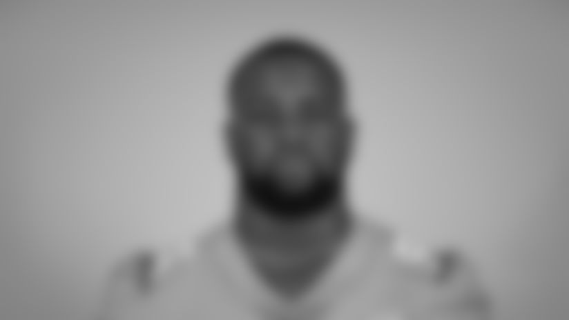 This is a 2020 photo of Davon Godchaux of the Miami Dolphins NFL football team. This image reflects the Miami Dolphins active roster as of Sunday, Sept. 6, 2020 when this image was taken. (AP Photo)