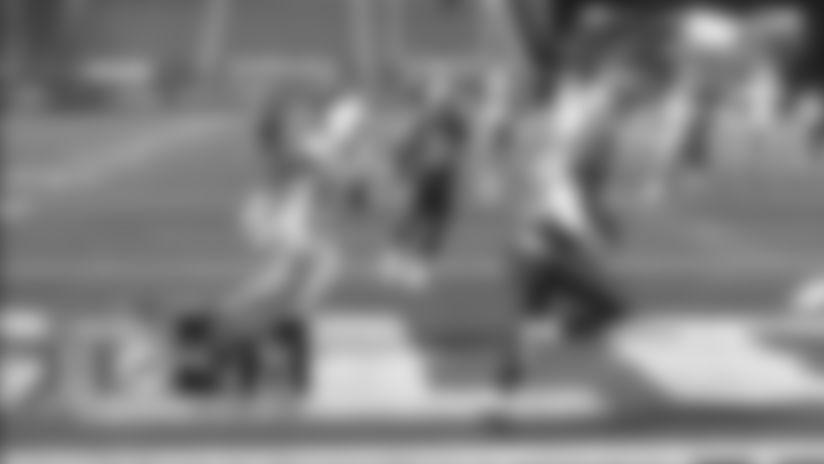 J.C. Jackson intercepts the Ryan Fitzpatrick pass vs. Miami Dolphins