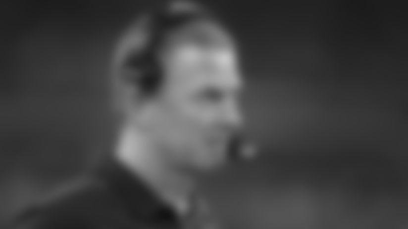 Dallas Cowboys head coach Jason Garrett in the first half during an NFL football game against the Philadelphia Eagles, Sunday, Oct. 20, 2019, in Arlington, Texas. (Rick Scuteri via AP)