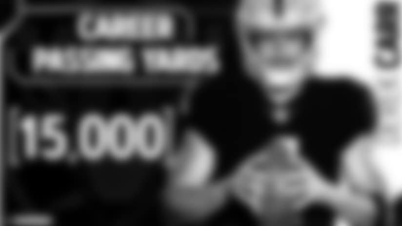 Derek Carr surpasses 15,000 career passing yards