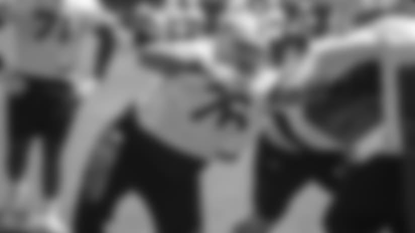 Oakland Raiders offensive guard Jon Feliciano (76) at a Mandatory Mini Camp at the Oakland Raiders Practice Facility, Tuesday, June 12, 2018, in Alameda, California.