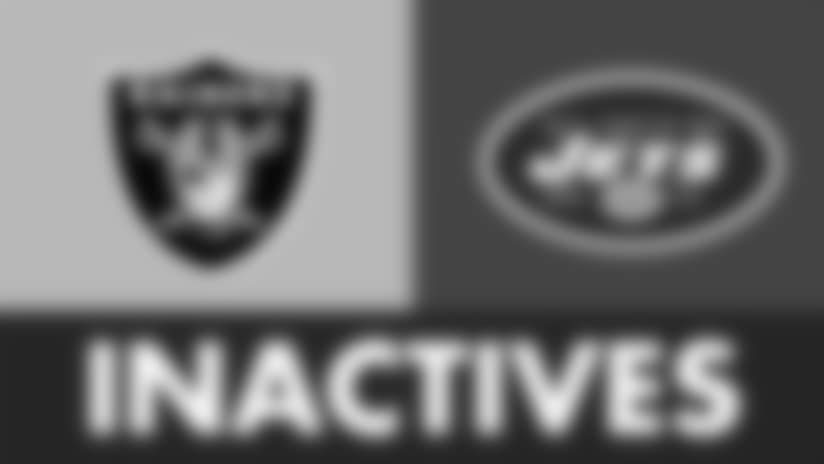 The Oakland Raiders Inactives Against The New York Jets