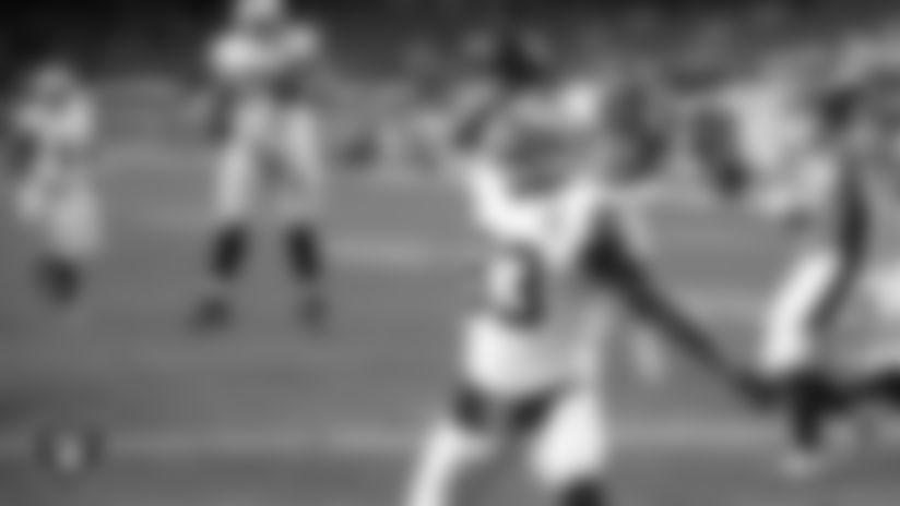 View director of photography Michael Clemens' top picks of black and white photos from the Raiders' Week 17 matchup against the Denver Broncos at Empower Field at Mile High.