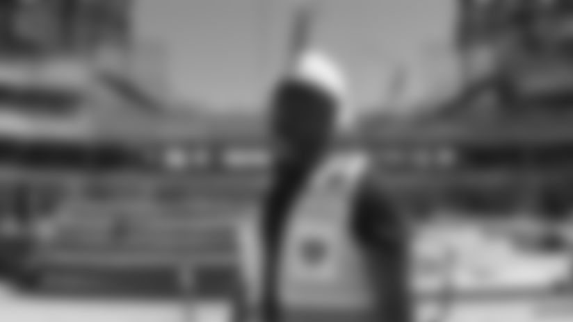 Akbar Gbaja-Biamila visits Las Vegas Stadium