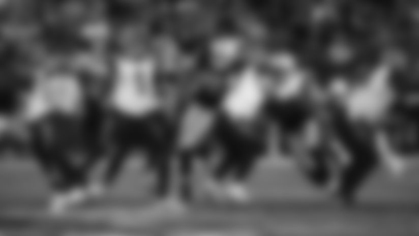 The Raiders during the regular season game against the Cincinnati Bengals at the Oakland-Alameda County Coliseum.