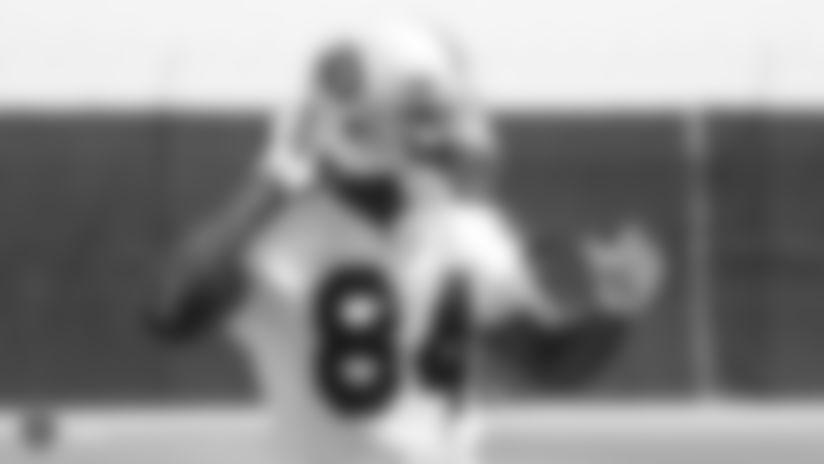 Raiders wide receiver Antonio Brown (84) at a Mandatory Minicamp at the Raiders Practice Facility in Alameda, Calif.