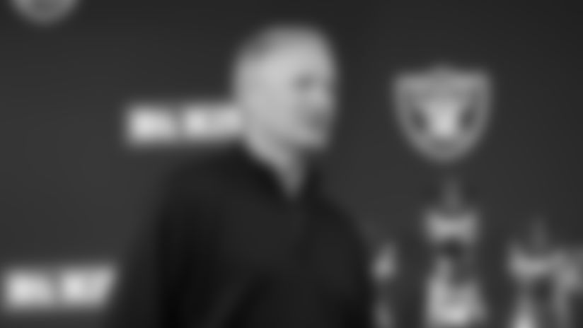 This is the 2019 NFL Draft pick. This is Oakland Raiders general manager Mike Mayock. This is during the press conference. This was taken at the Oakland Raiders practice facility in Alameda, California. Saturday April 27, 2019