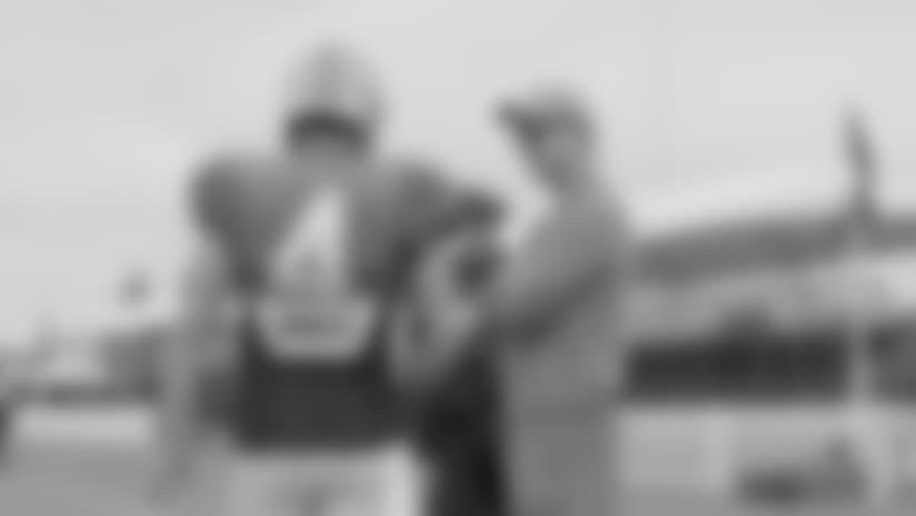 Mic'd Up: Derek Carr and Peyton Manning at Training Camp