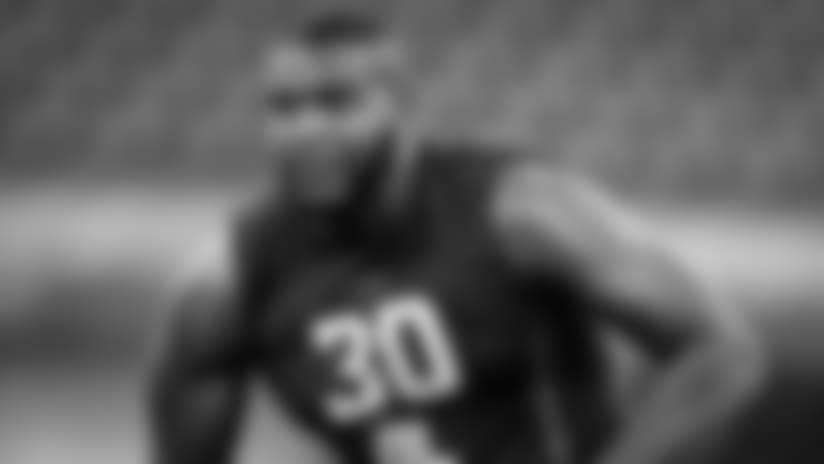 Las Vegas Raiders running back Josh Jacobs (28) on the sidelines during the Las Vegas Raiders regular season away game against the Carolina Panthers at Bank of America Stadium, Sunday, September 13, 2020, in Charlotte, N.C. The Las Vegas Raiders won 34-30.